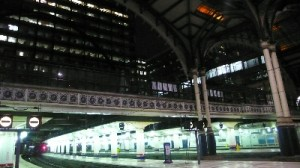 Ankunft in London Liverpool Station
